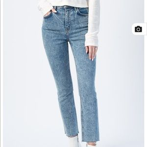GRLFRND Reed Jeans high rise acid wash cropped 32